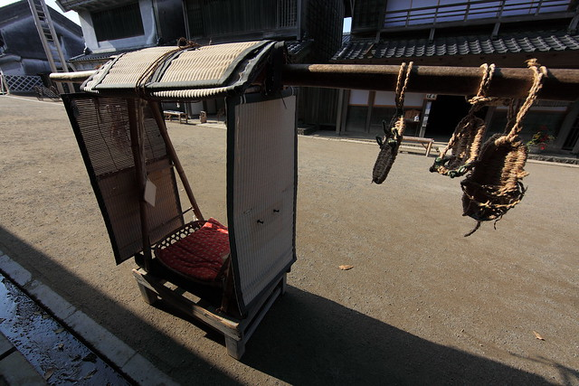 Japanese traditional style taxi / 駕籠(かご)
