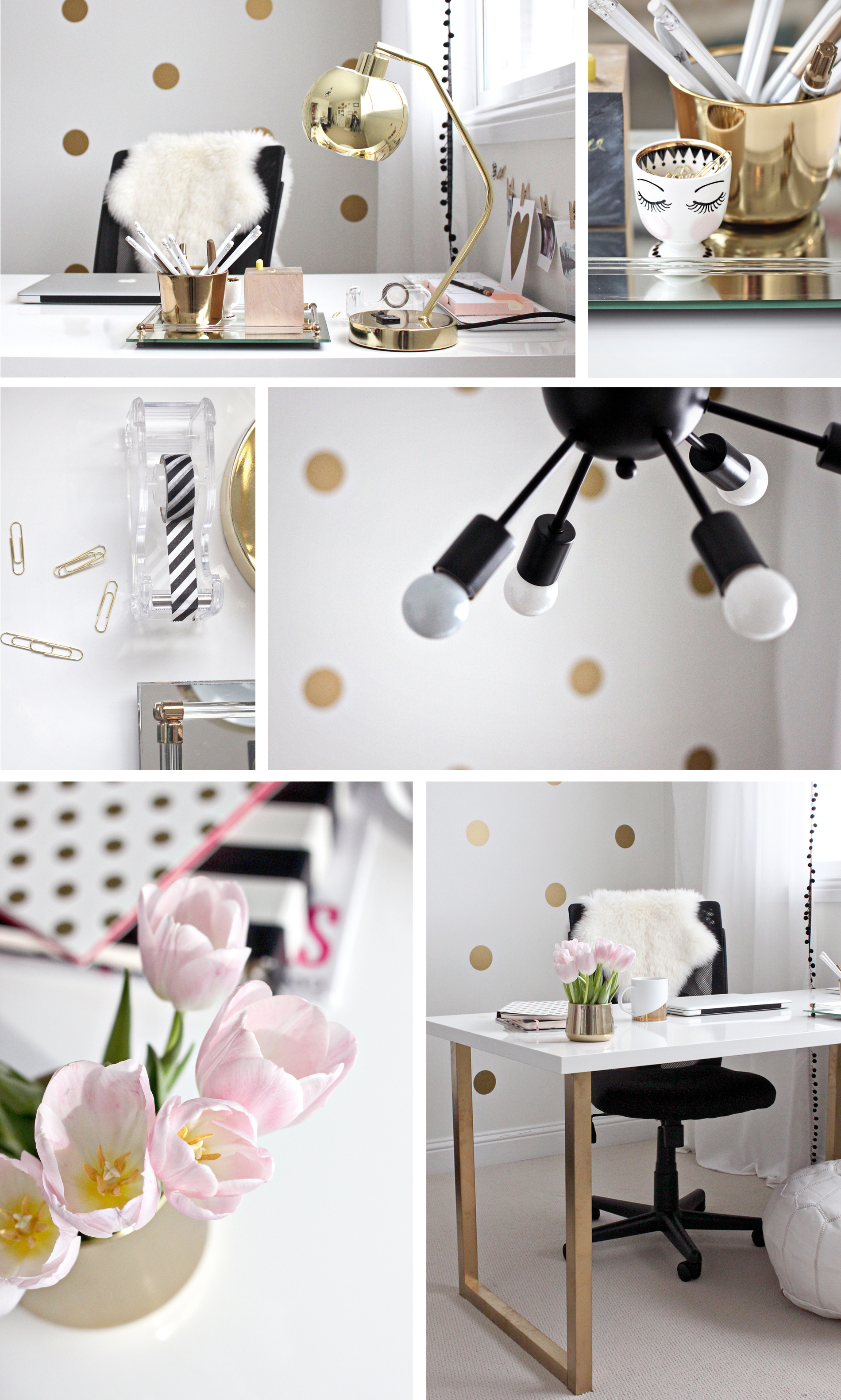 Pink And Gold Office Decor Ideas