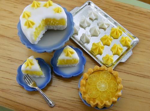 Lemon Pie, Sponge Cake and Meringue Cookies