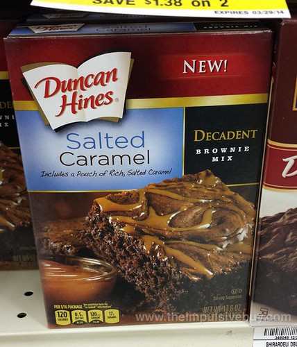 Duncan HInes Salted Caramel Decadent Brownie Mix