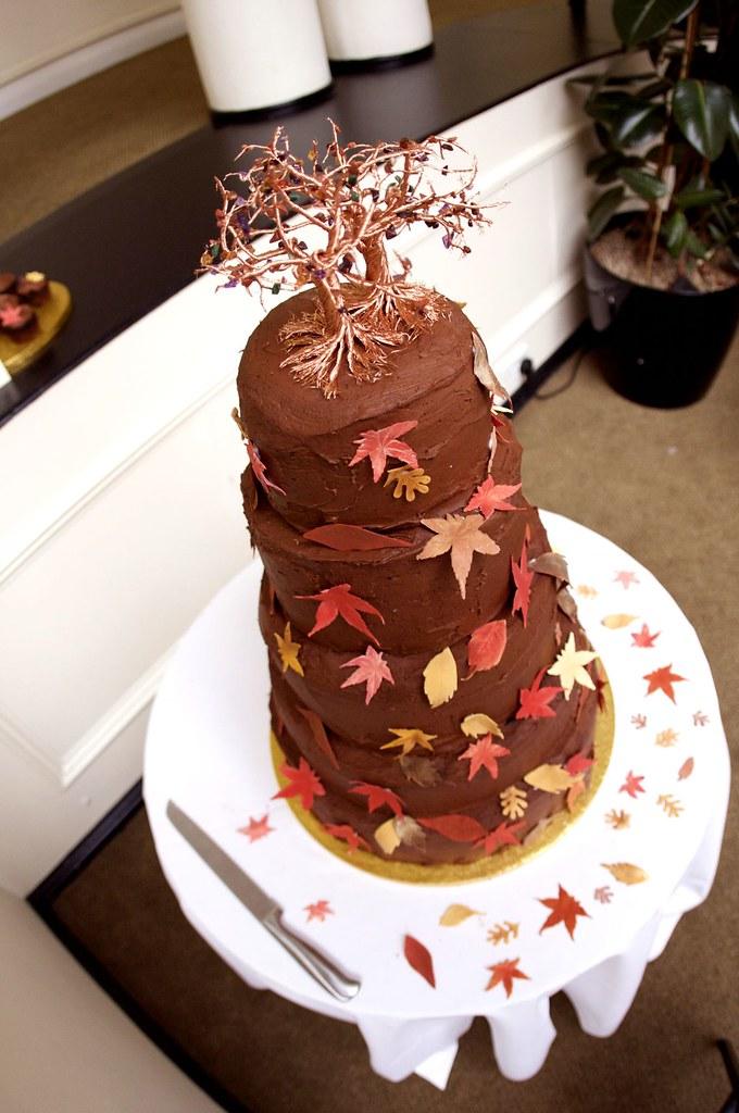 Our beautiful vegan wedding cake