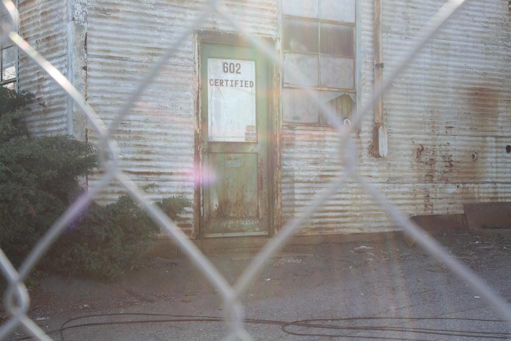 Chainlink and a door