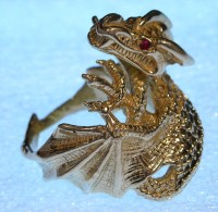 Mens gold dragon ring   I will be listing this item for ...