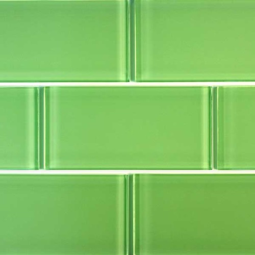 3 x 6 Glass Subway Tiles  Light Green  These are the