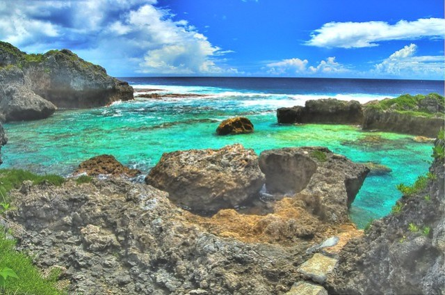 Niue swimming lagoon