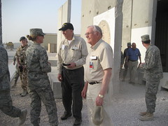 Neil Armstrong and David Hartman visit members of the National Guard