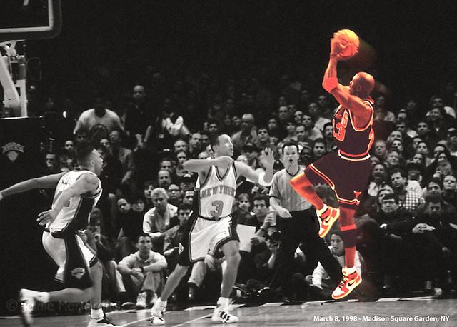 Michael Jordan vs John Starks  March 8 1998 Michael