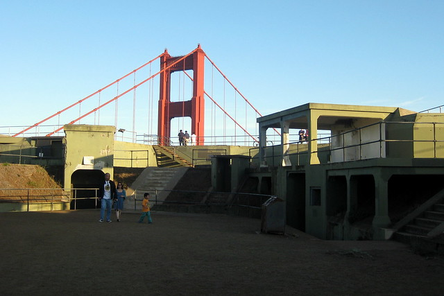 CA - Marin County: Fort Baker - Battery Spencer and Golden Gate Bridge