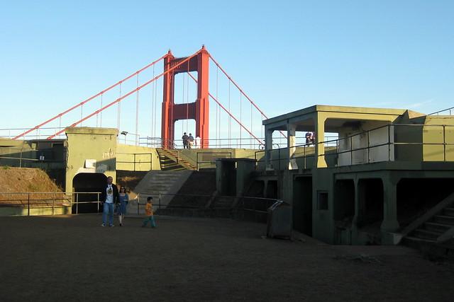 CA - Marin County: Fort Baker - Battery Spencer and Golden Gate Bridge