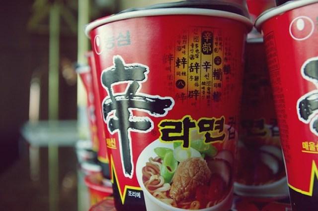 Korean cup noodles