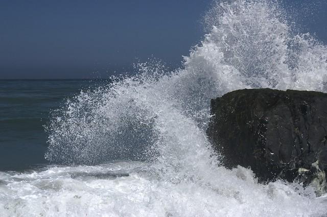 Wave Crash on Rocks
