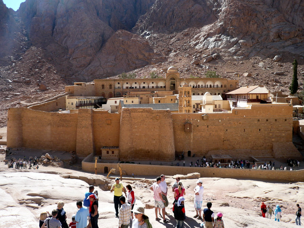View of St Catherine's Monastery