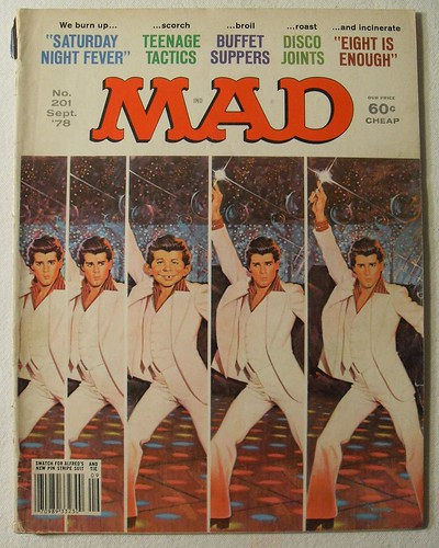 MAD MAGAZINE 1978 Vintage Illustration BY JACK RICKARD Alfred E. Newman JOHN TRAVOLTA Saturday Night Fever