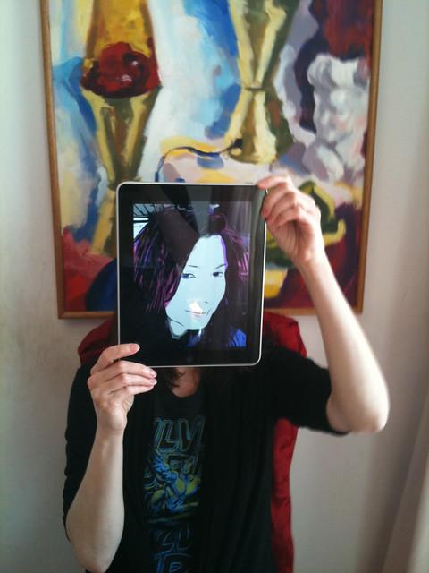 Self portrait with iPad