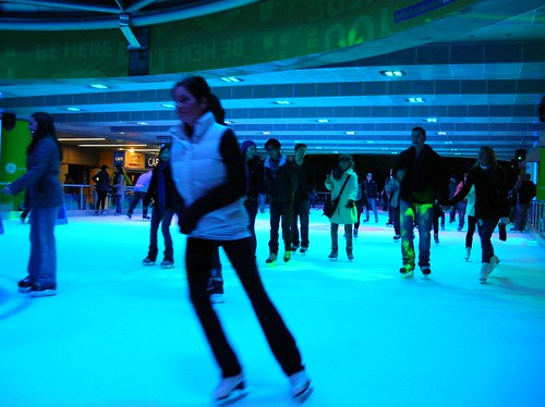Skating at Robson Square