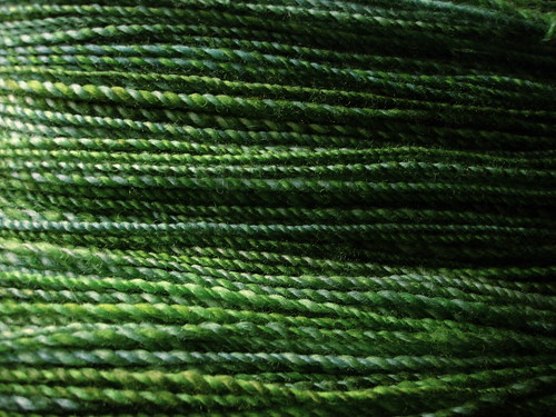 Winter Greens handspun yarn
