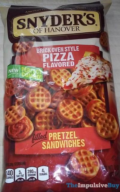 Snyder's of Hanover Brick Oven Style Pizza Pretzel Sandwiches