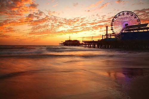 Santa Monica Pier, Ca - at Sunset