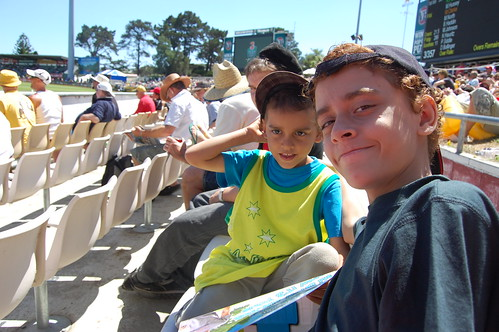 at the cricket - brothers