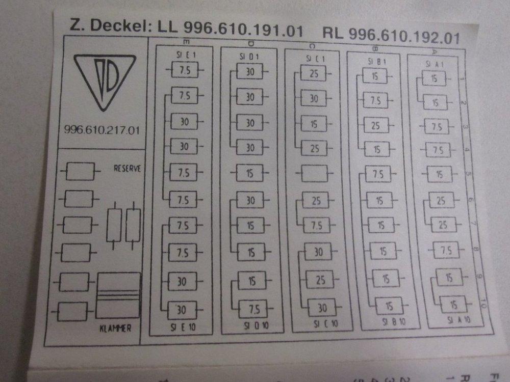 medium resolution of car fuse diagrams porsche boxster 2001 2001 ford f450 fuse 1997 porsche boxster fuse box diagram