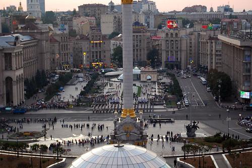 Independence Square from the Hotel Ukraine - Copyright Roser Martínez