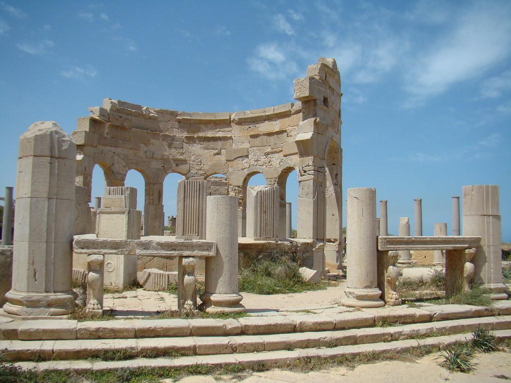 Leptis Magna Mercado Libia 8