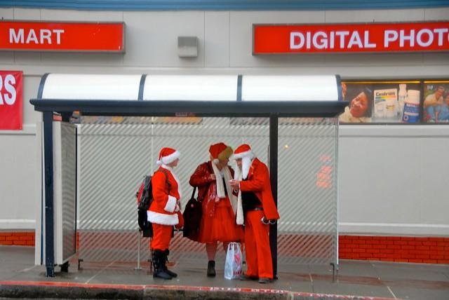 Bus Stop Santas