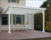 Deluxe 4 Beam Vinyl Wall Mounted Pergola | Flickr - Photo ...