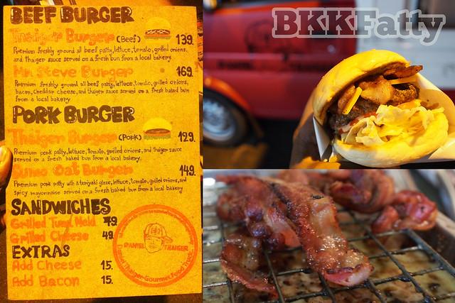 daniel thaiger menu and burger bangkok