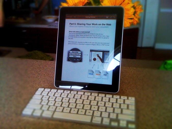 iPad with Keyboard Dock
