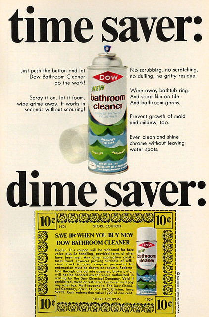 Dow Bathroom Cleaner Ad w Coupon  Flickr  Photo Sharing