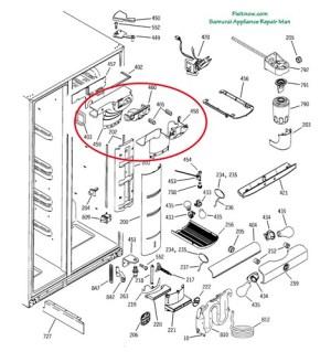 GE Profile PSS25 Fridge Breakdown Diagram with Damper Asse… | Flickr  Photo Sharing!