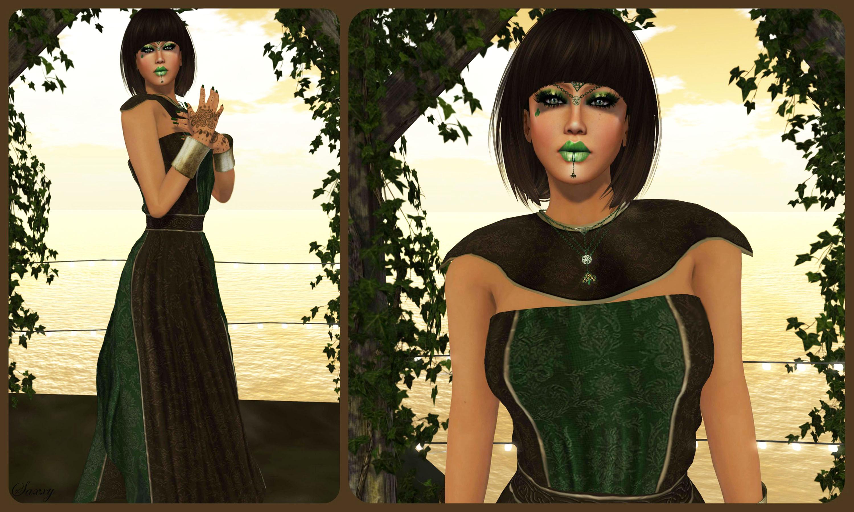 Green Goddess Collage