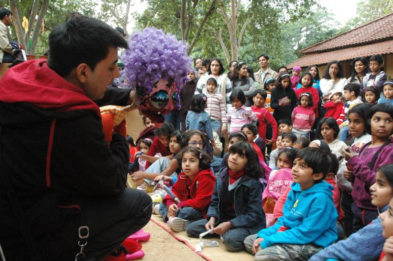 story telling and puppetry can bring the world to the young mind. Bookaroo. Delhi