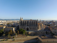 palma drone view historic city mallorca - copyright travelformotion