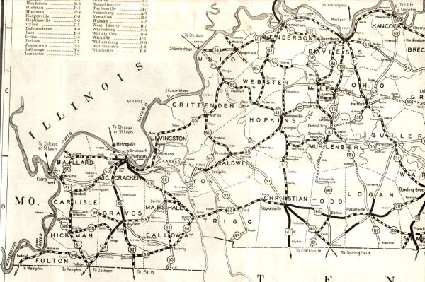1930 Road Map of Kentucky Flickr Photo Sharing!