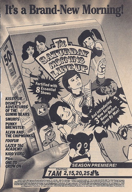 Saturday morning cartoons, 1986