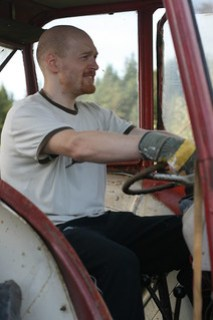 driving a tractor