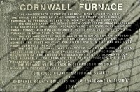 Cornwall Furnace Plaque / Cedar Bluff, Alabama