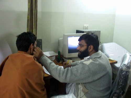 Doctor treating patient at UM Healthcare