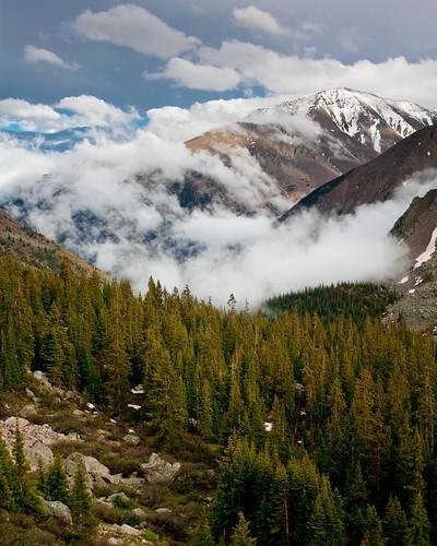 Mount Elbert and Clouds 1