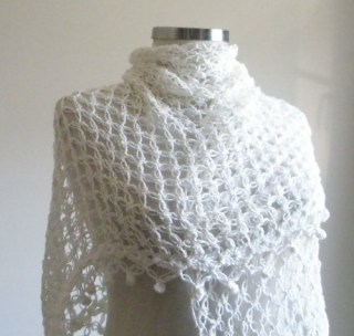 Ivory Shawl Crochet Elegant