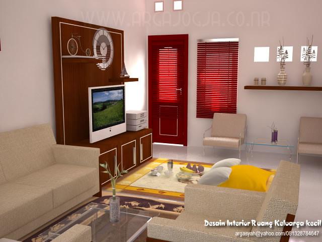 Desain Interior Ruang Keluarga Kecil Minimalist  email