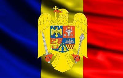 ROMANIA     flag & coat-of-arms