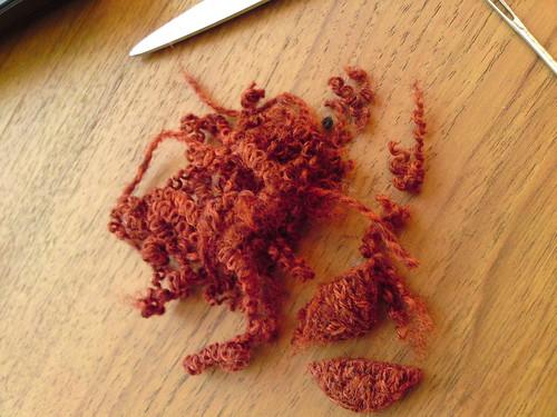 unravelled yarn