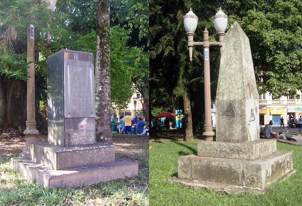 Praças são alvos de furtos de placa de bronze e prefeitura não repõe identificação 13