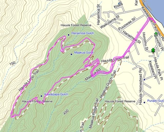 Hauhula Trail Topo