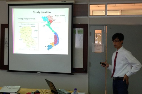 Sinh Dang Xuan defends his Master of Veterinary Public Health thesis at Chiang Mai University, Thailand