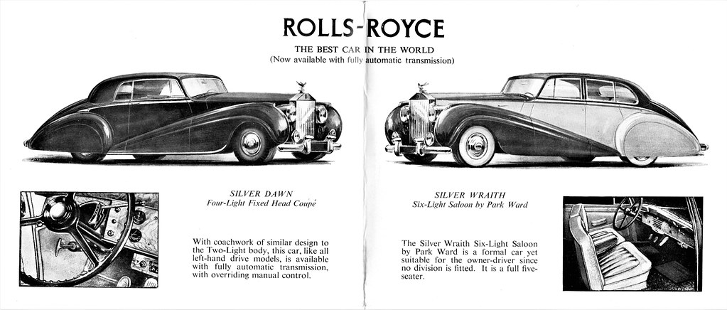 1953 Rolls-Royce Silver Dawn Coupe & Silver Wraith Saloon