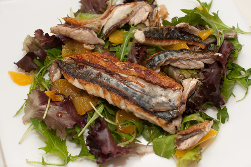 Mackerel and orange salad